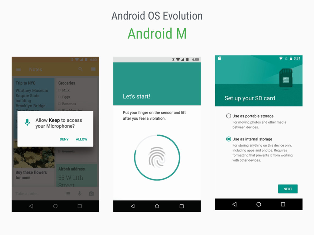 Android OS Evolution Android M