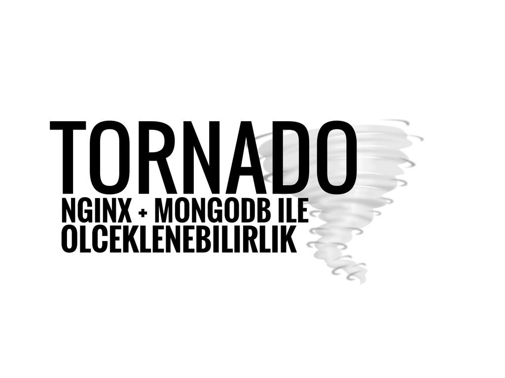 NGINX + MONGODB ILE TORNADO OLCEKLENEBILIRLIK