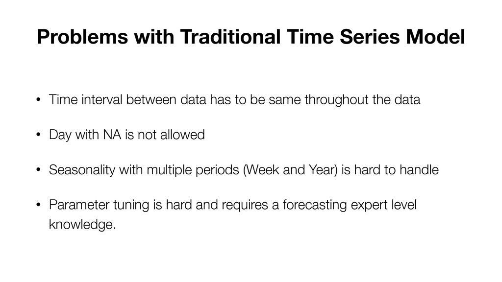 • Time interval between data has to be same thr...