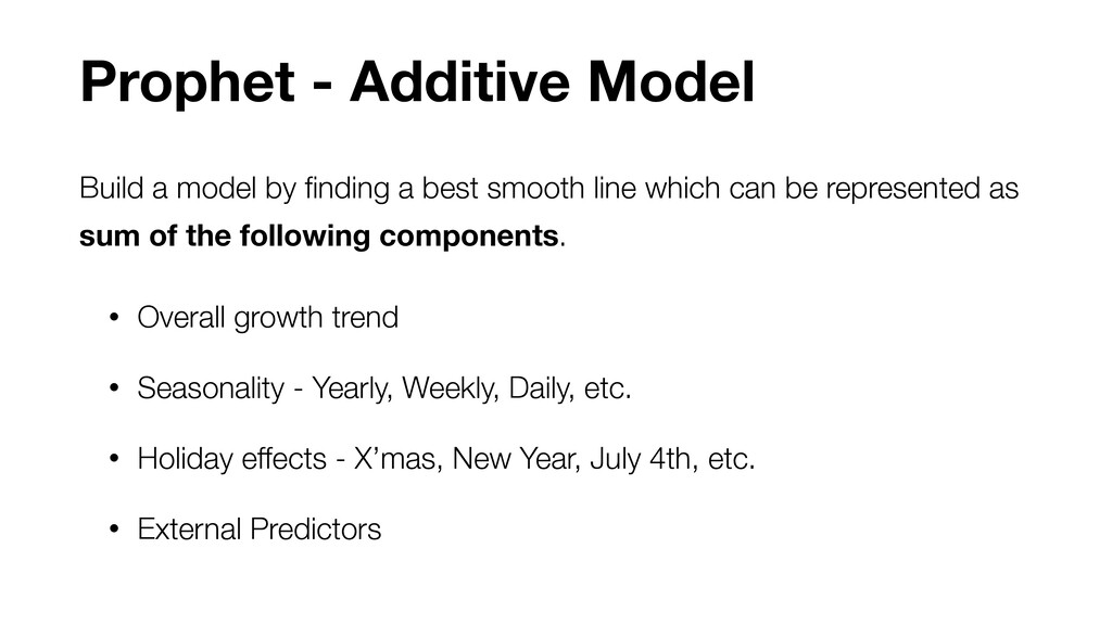 Build a model by finding a best smooth line whic...