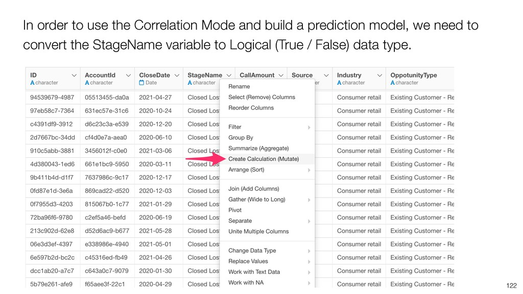 In order to use the Correlation Mode and build ...