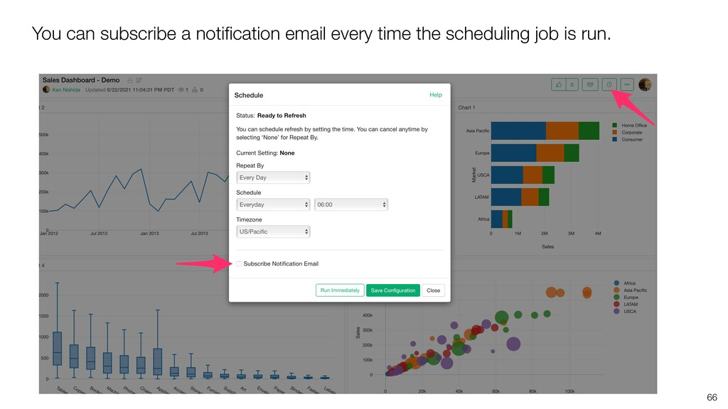 You can subscribe a notification email every tim...