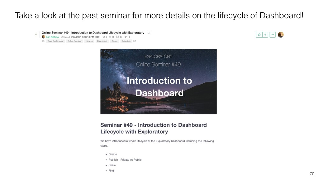 70 Take a look at the past seminar for more det...