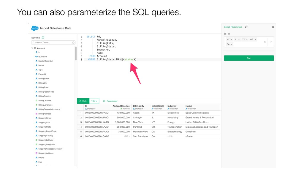 You can also parameterize the SQL queries.
