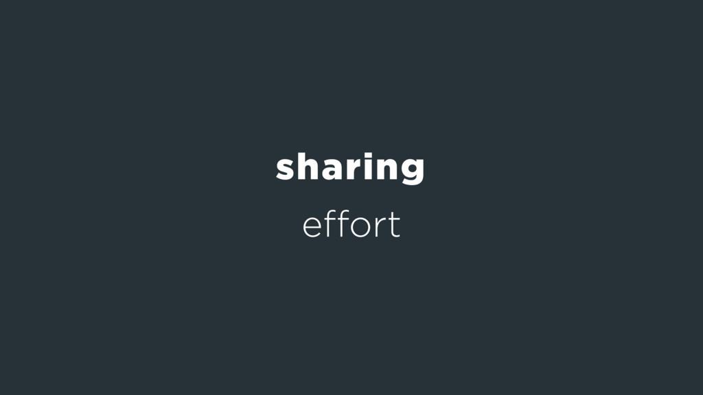 effort sharing