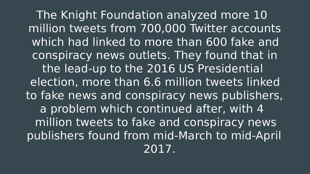 The Knight Foundation analyzed more 10 million ...
