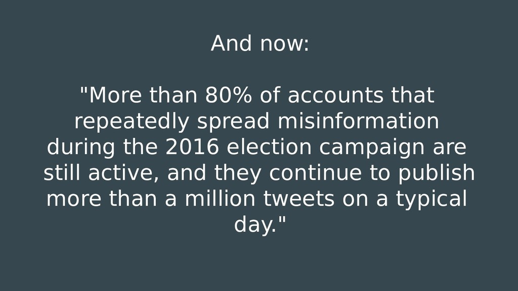 "And now: ""More than 80% of accounts that repeat..."