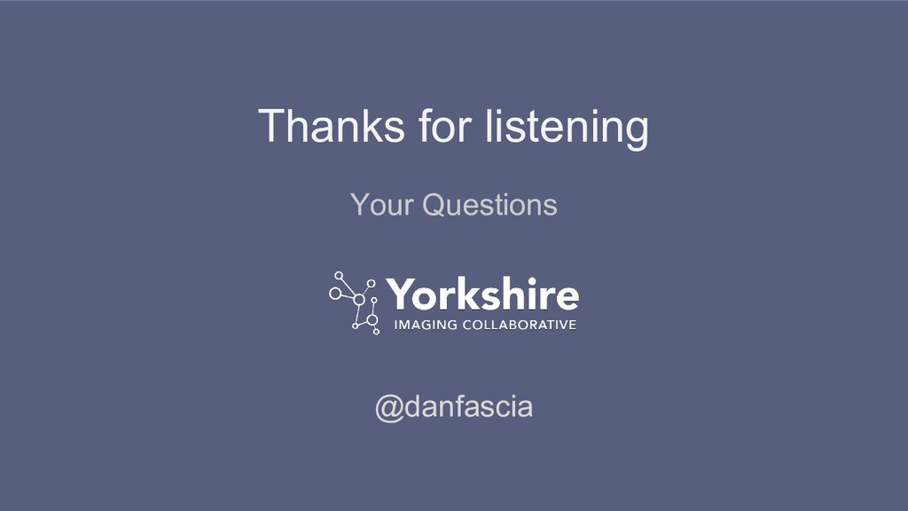Thanks for listening @danfascia Your Questions