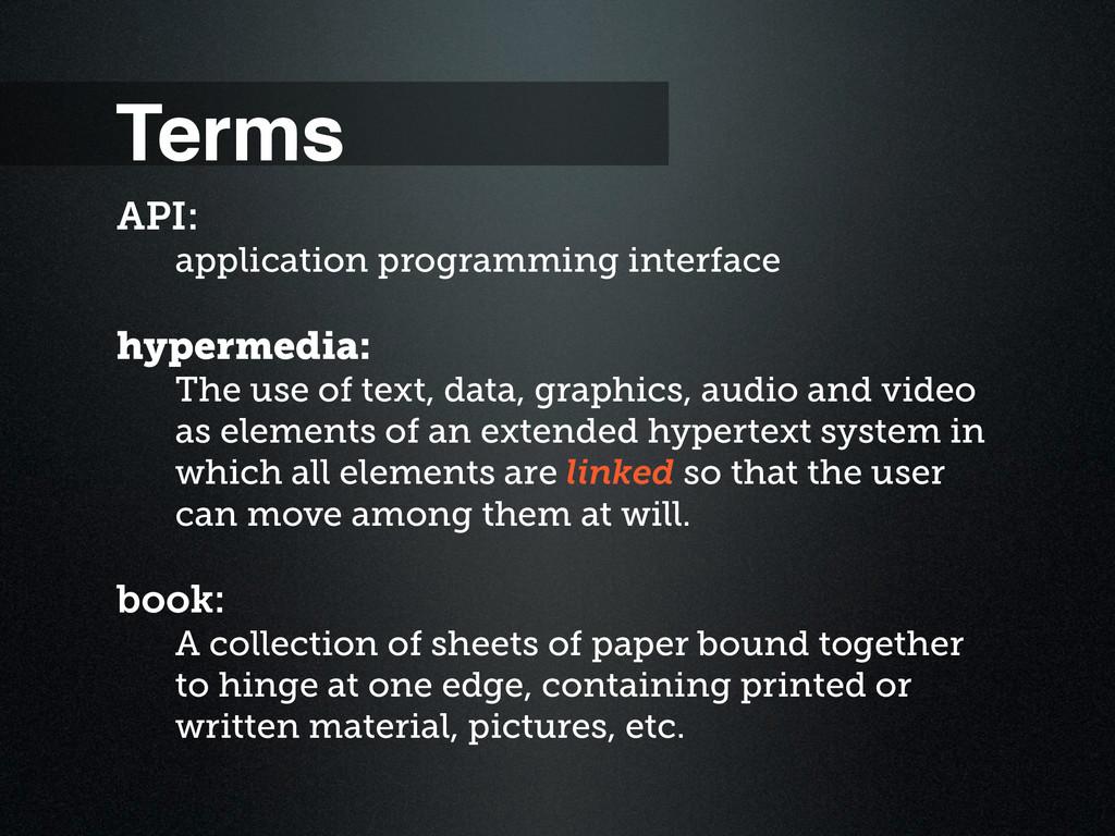 Terms API: application programming interface hy...