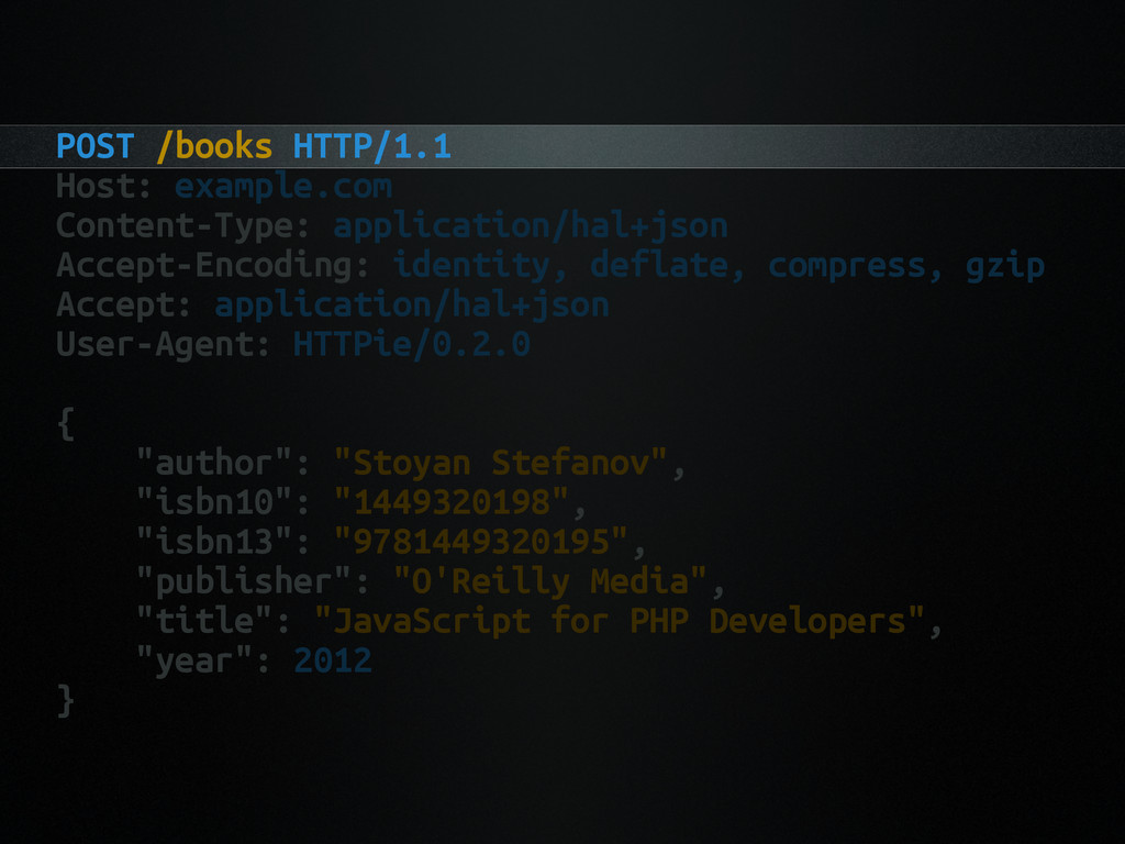 POST /books HTTP/1.1 Host: example.com Content-...