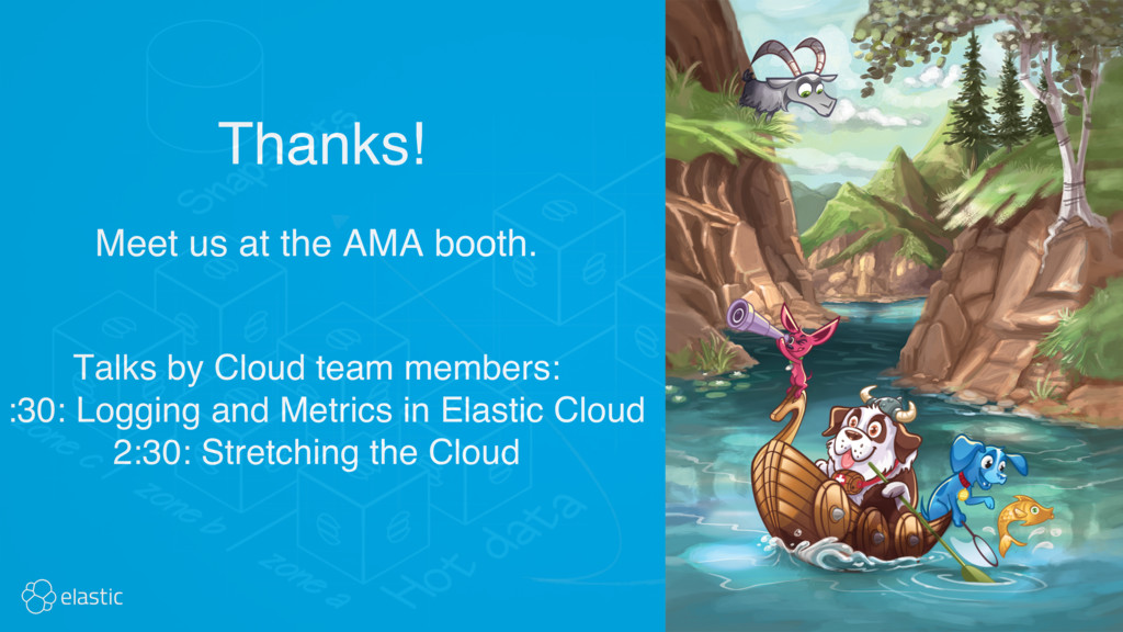 Meet us at the AMA booth. Thanks! Talks by Clou...