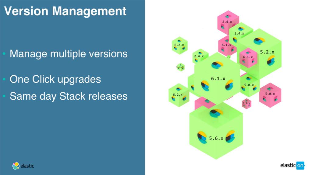 Version Management • Manage multiple versions •...