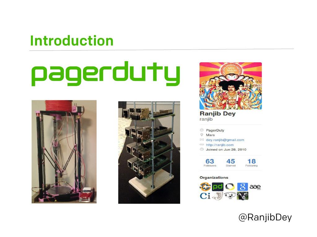 Introduction @RanjibDey