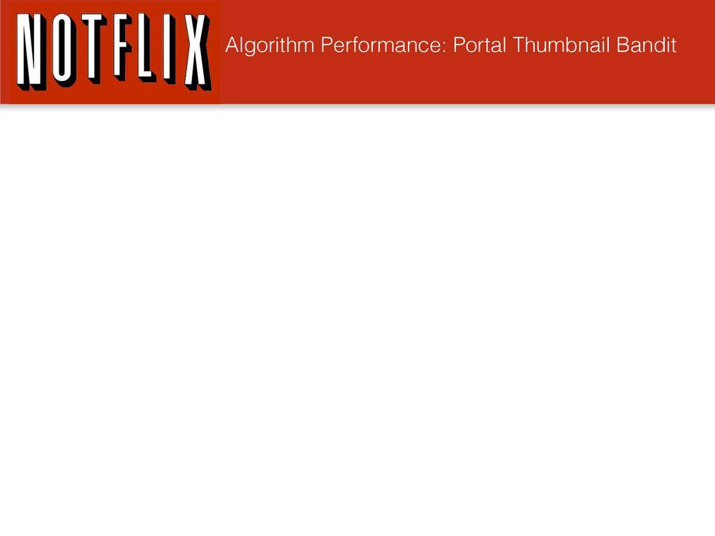 Algorithm Performance: Portal Thumbnail Bandit