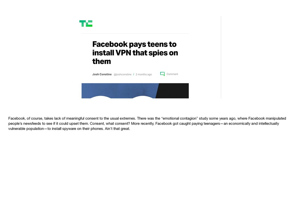 Facebook, of course, takes lack of meaningful c...