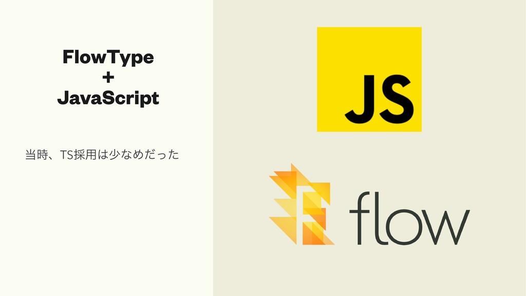 FlowType   +   JavaScript ɺTS࠾༻গͳΊͩͬͨ