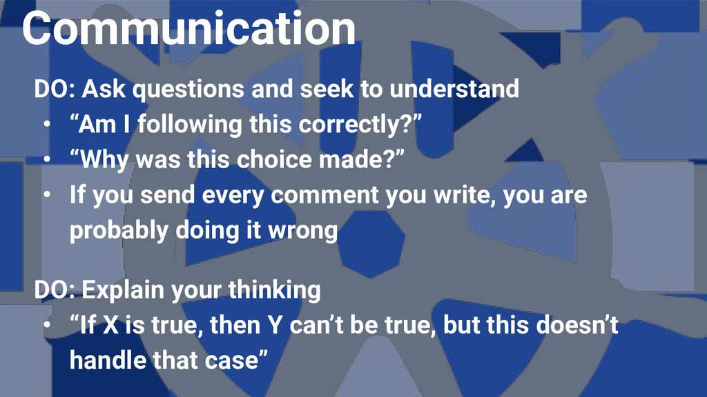 """DO: Ask questions and seek to understand • """"Am ..."""