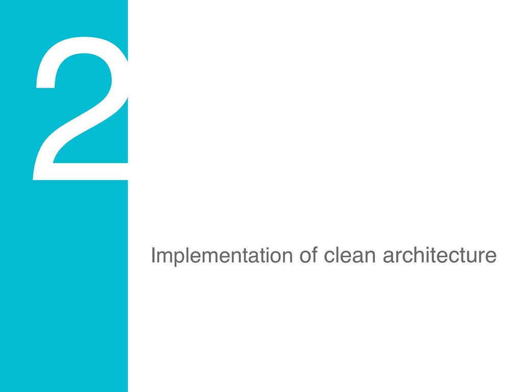2 Implementation of clean architecture