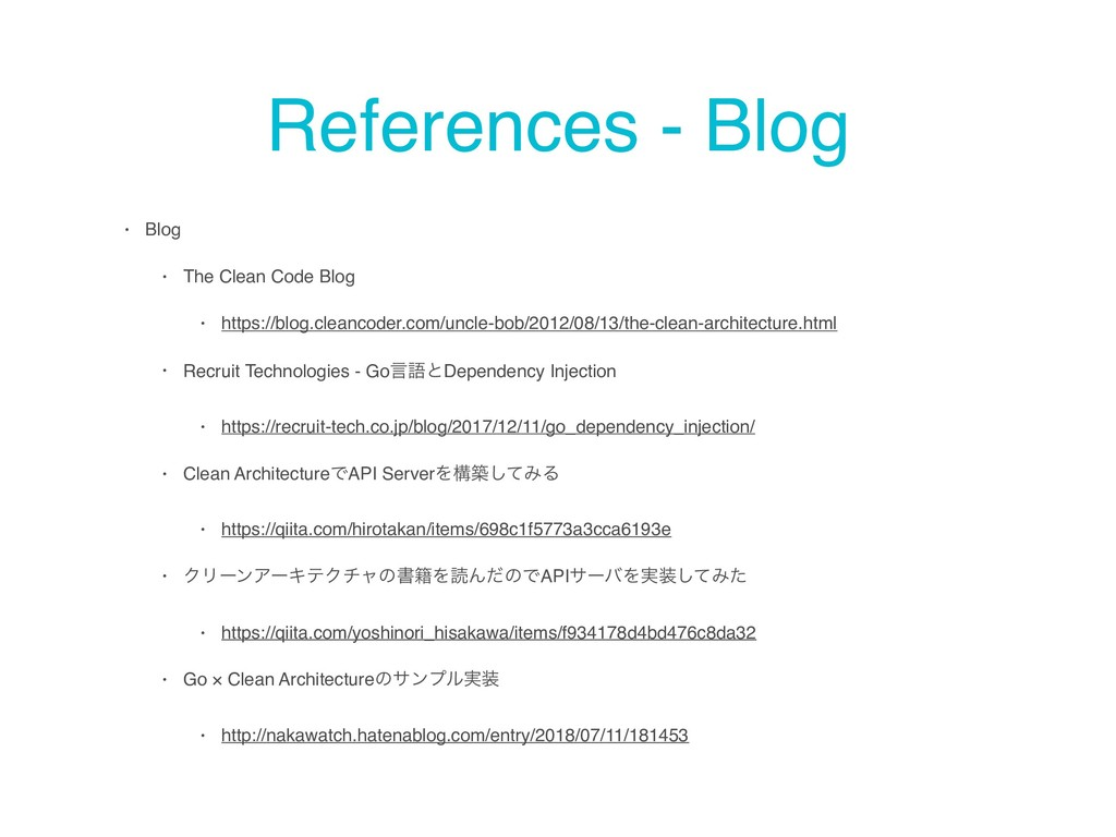 References - Blog • Blog • The Clean Code Blog ...