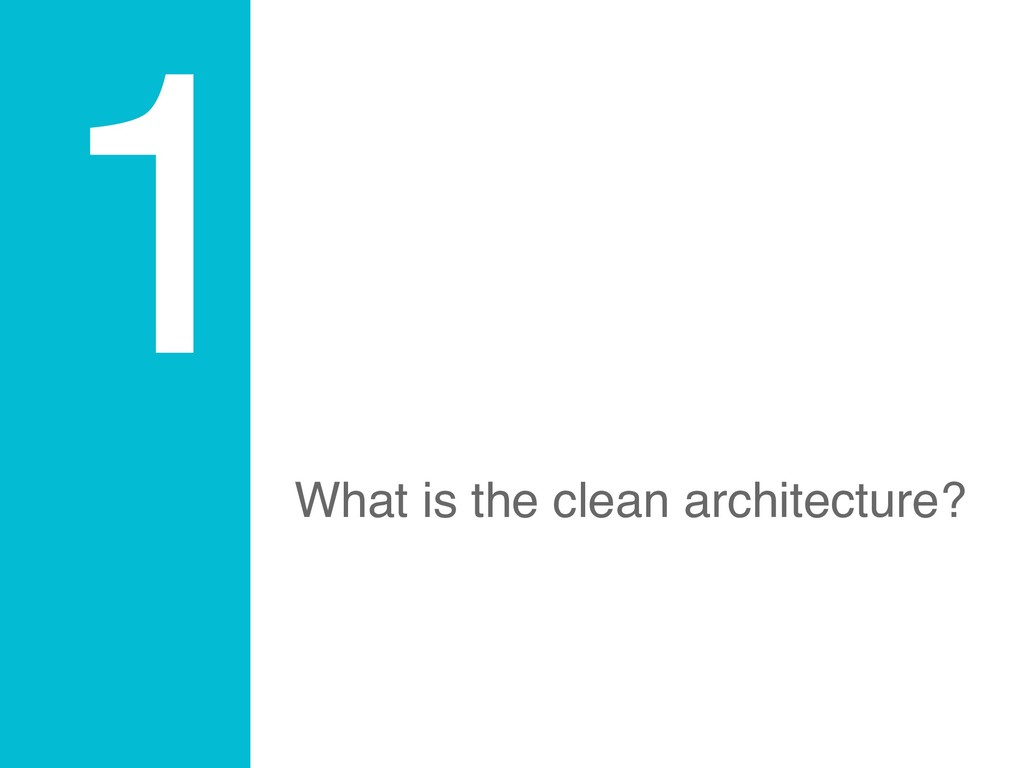 1 What is the clean architecture?