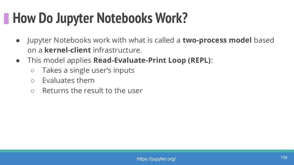 How Do Jupyter Notebooks Work? ● Jupyter Notebo...