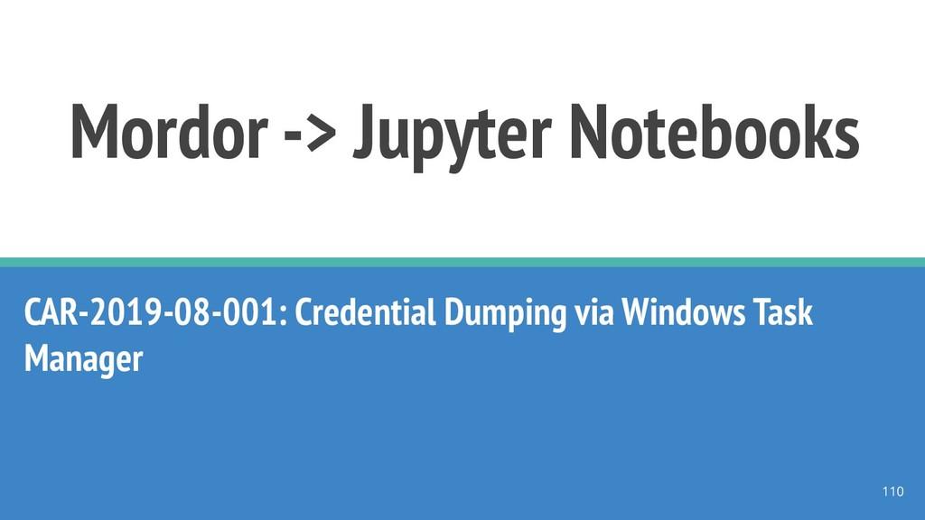 Mordor -> Jupyter Notebooks CAR-2019-08-001: Cr...