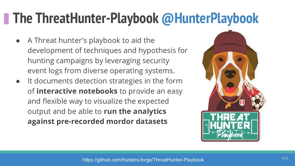 The ThreatHunter-Playbook @HunterPlaybook ● A T...