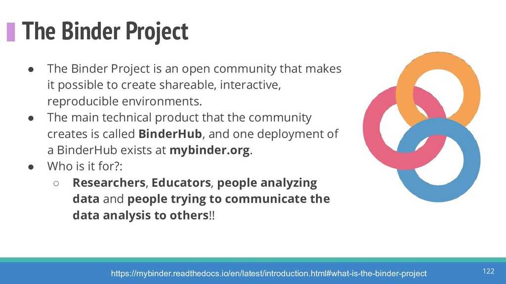 The Binder Project 122 ● The Binder Project is ...