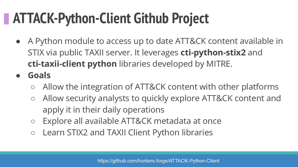 ATTACK-Python-Client Github Project ● A Python ...