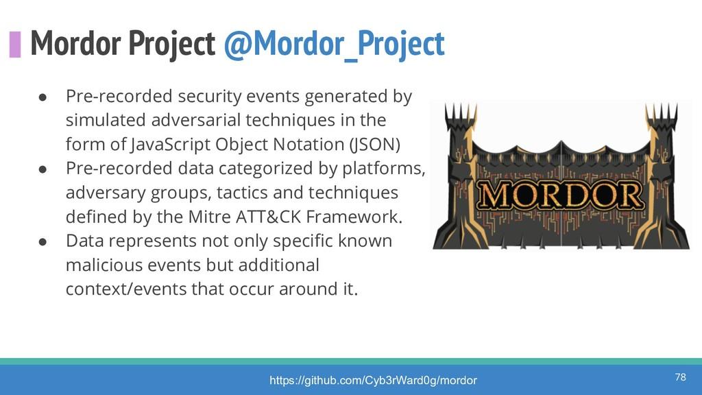 Mordor Project @Mordor_Project ● Pre-recorded s...