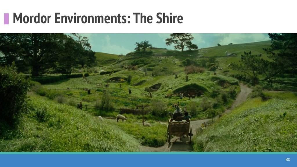 Mordor Environments: The Shire 80