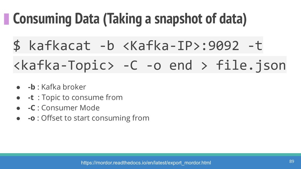 Consuming Data (Taking a snapshot of data) 89 h...