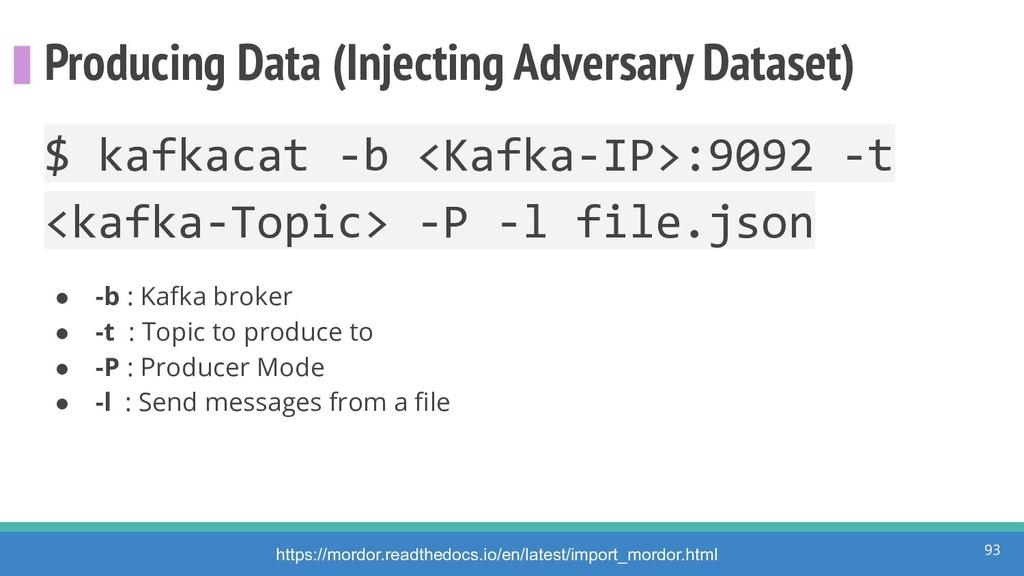 Producing Data (Injecting Adversary Dataset) 93...