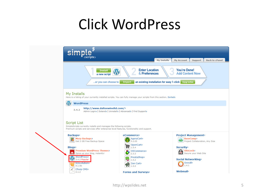 Click WordPress 5 http://wpslides.net