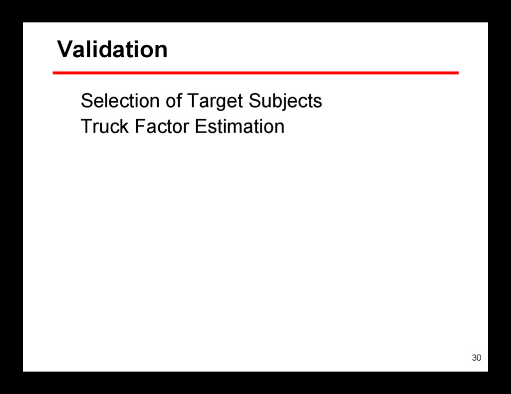 30 Validation Selection of Target Subjects Truc...