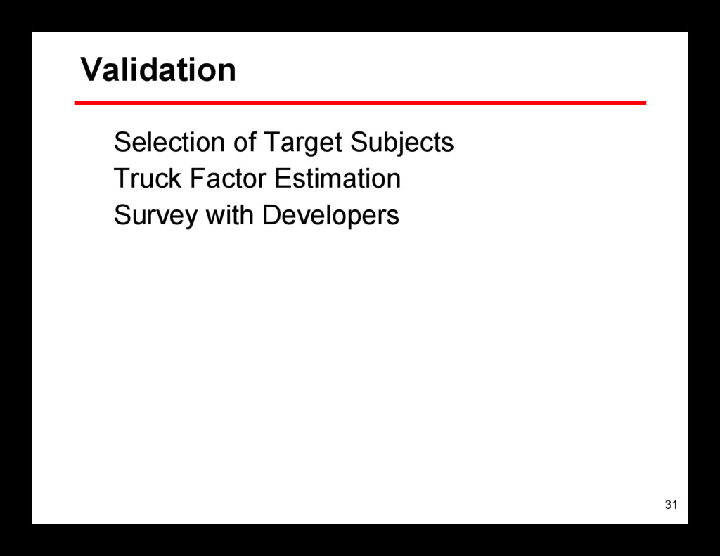31 Validation Selection of Target Subjects Truc...
