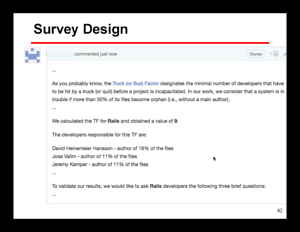 42 Survey Design