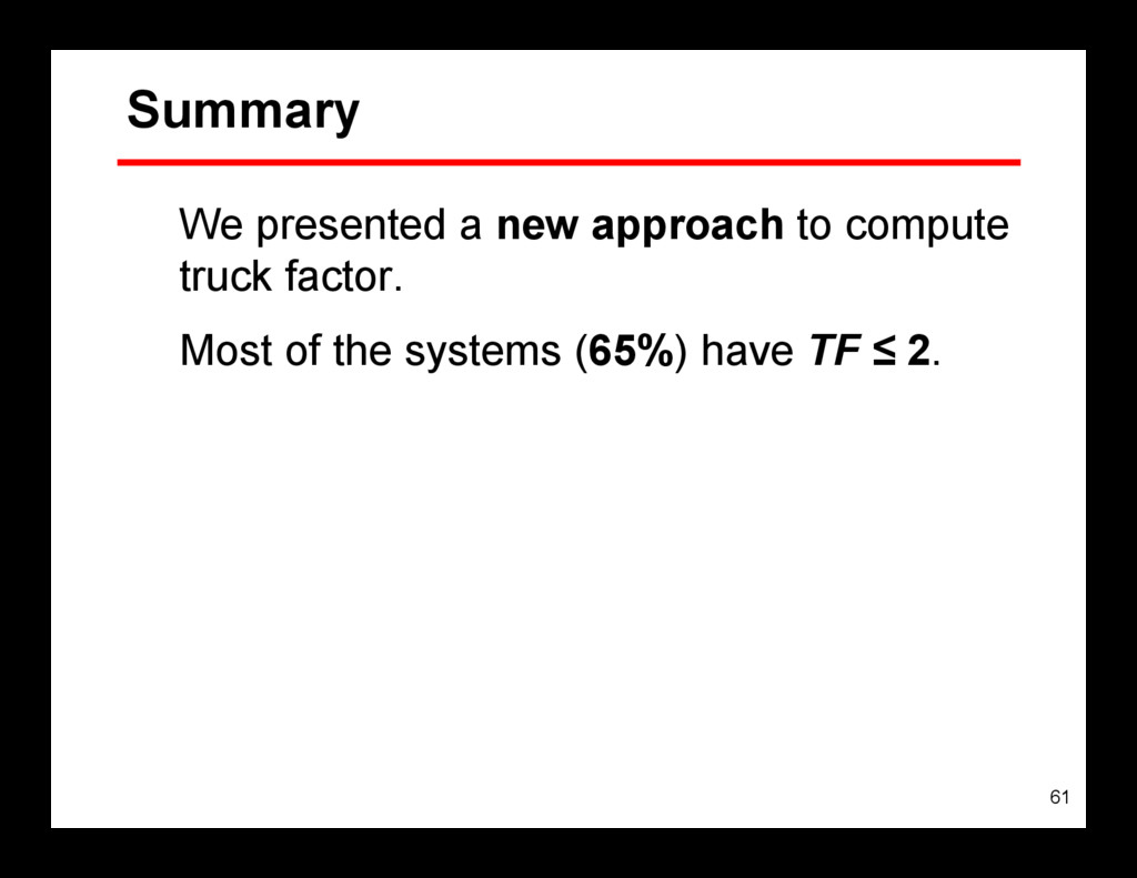 61 Summary We presented a new approach to compu...