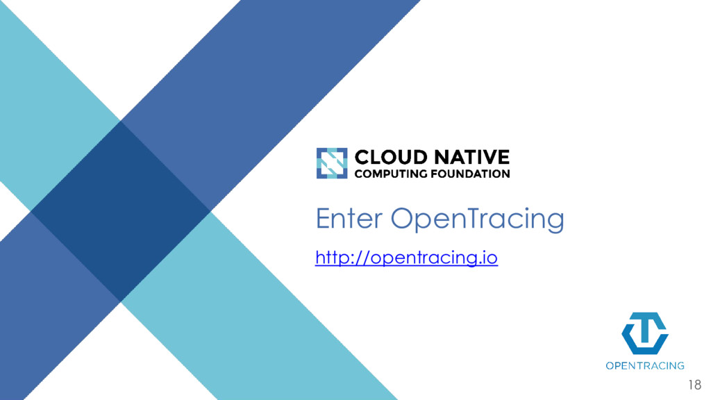 Enter OpenTracing http://opentracing.io 18