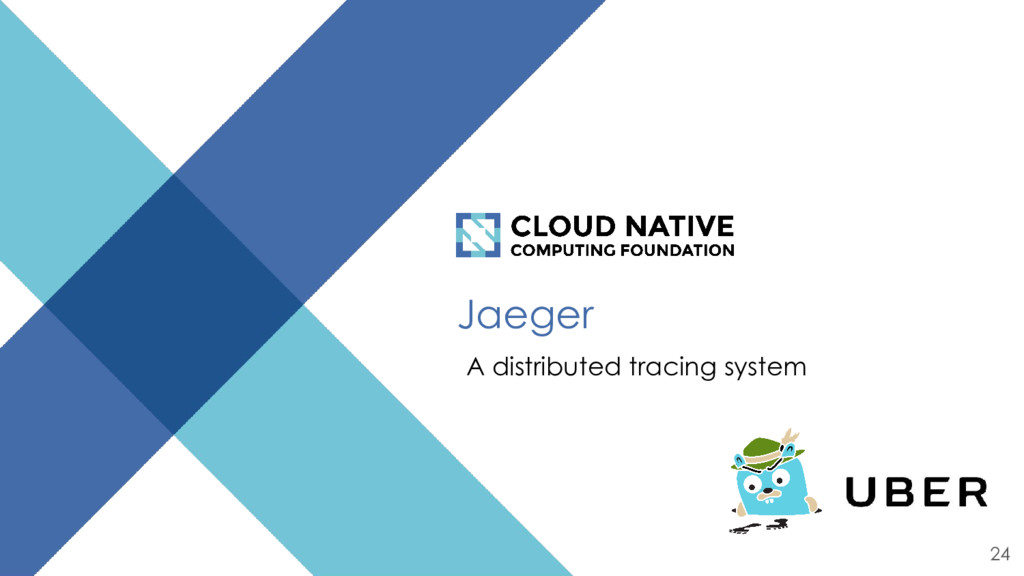 Jaeger A distributed tracing system 24