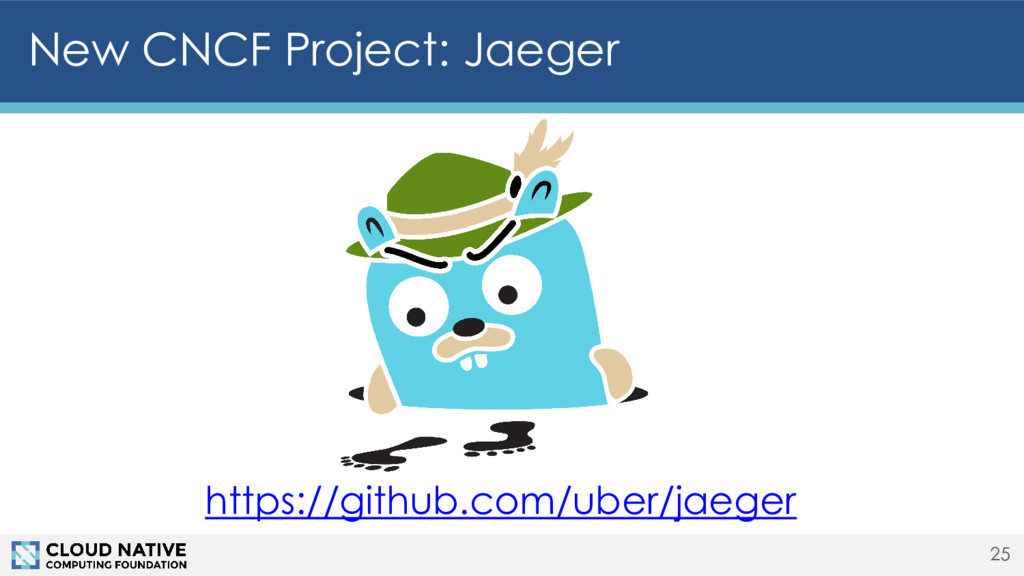 New CNCF Project: Jaeger 25 https://github.com/...