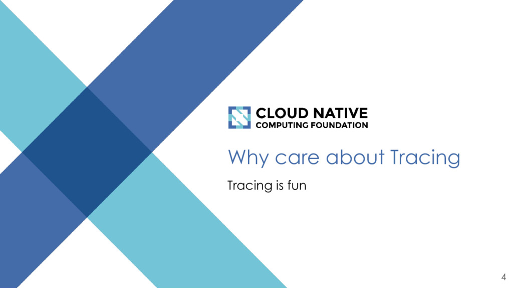 Why care about Tracing Tracing is fun 4