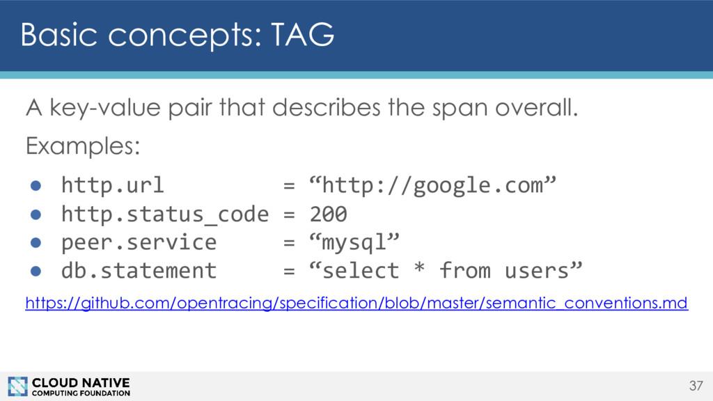 Basic concepts: TAG A key-value pair that descr...