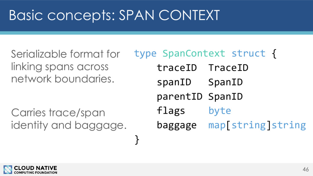 Basic concepts: SPAN CONTEXT 46 Serializable fo...