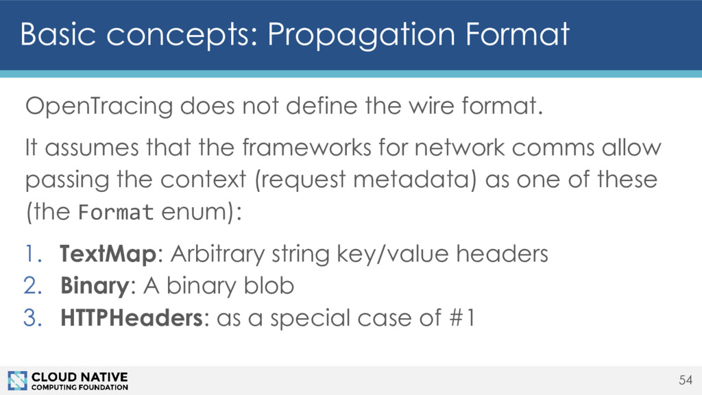 Basic concepts: Propagation Format OpenTracing ...