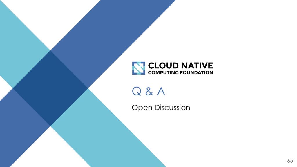 Q & A Open Discussion 65