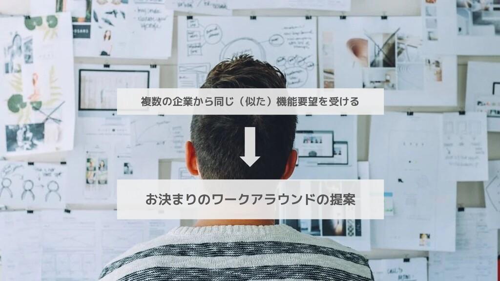 複数の企業から同じ(似た)機能要望を受ける お決まりのワークアラウンドの提案