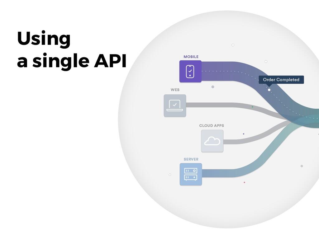 Using a single API