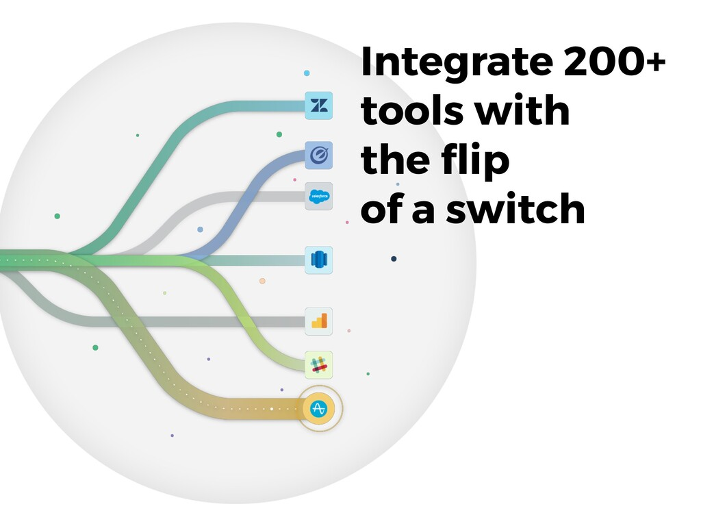Integrate 200+ tools with the flip of a switch