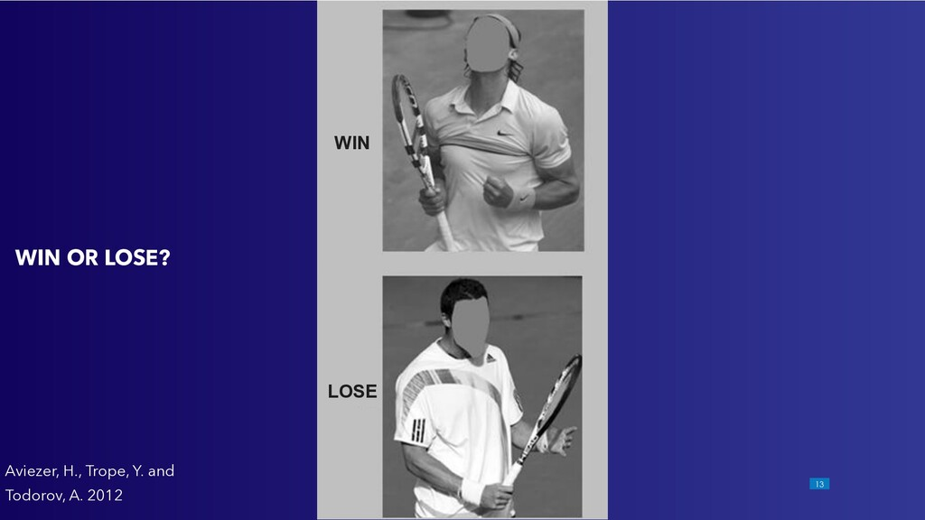 !13 WIN OR LOSE? Aviezer, H., Trope, Y. and Tod...